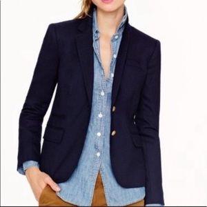 Jcrew navy wool schoolboy blazer jacket 8